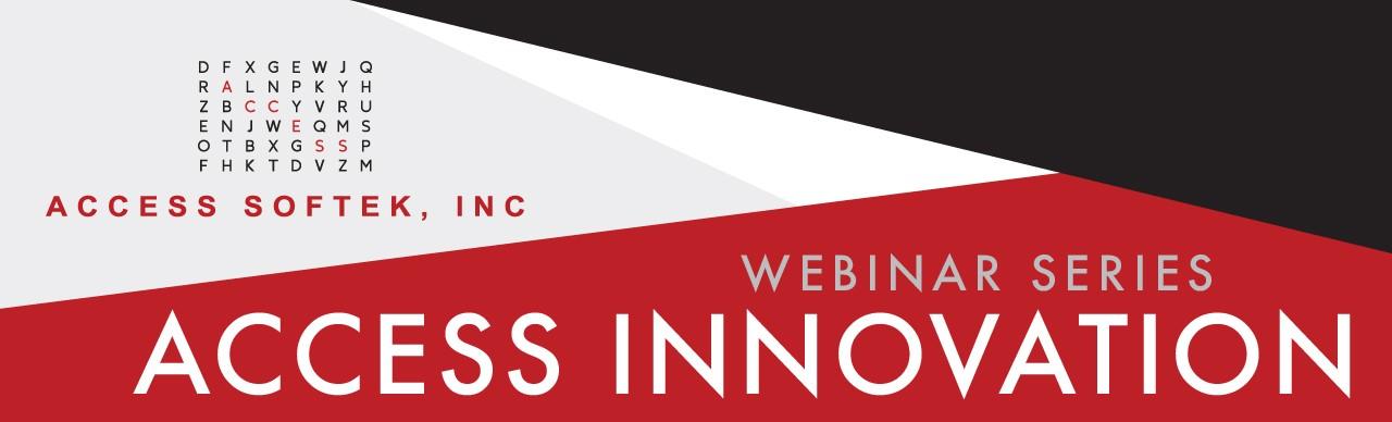Access Innovation Webinar Banner