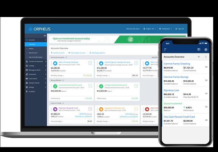 [Digital Banking platform image] Orpheus on different devices 2